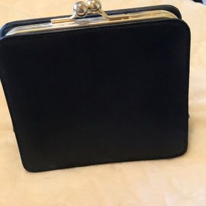 Handbags - Black leather clutch with chain strap